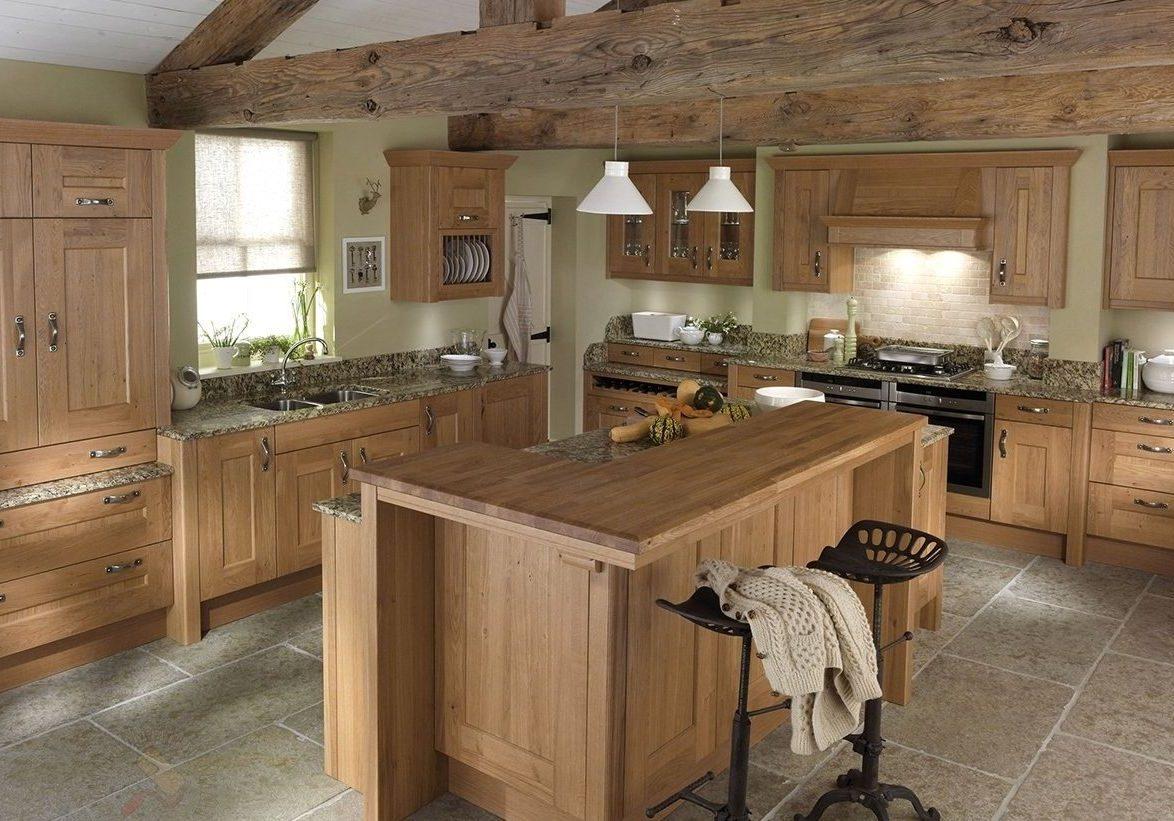 Дубовая деревянная кухня на заказ