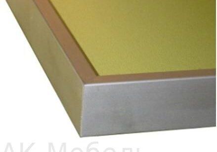 Столешница пластиковая с алюминиевой рамкой