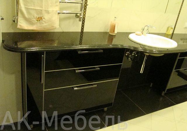 Мебель из глянцевого пластика для ванной