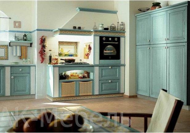 Кухня из массива дерева в стиле прованс
