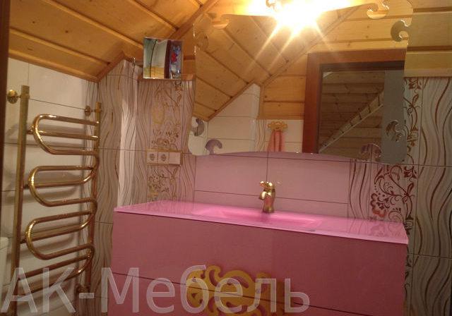 Подвесная мебель из МДФ для ванной комнаты