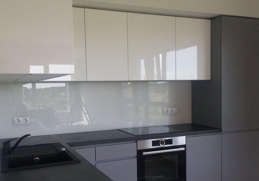 Глянцевые кухни белый верх