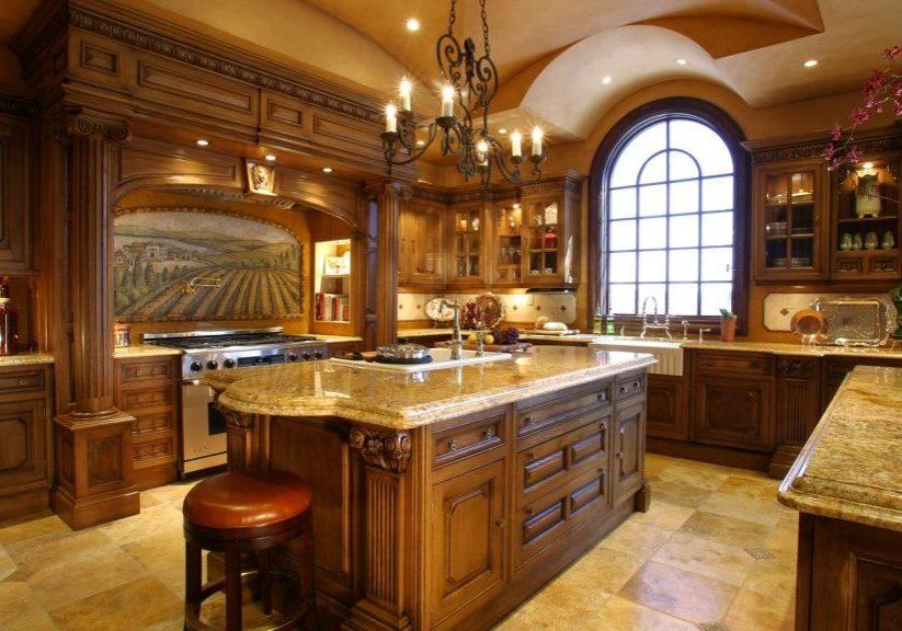 Изготовление кухни с деревянными фасадами