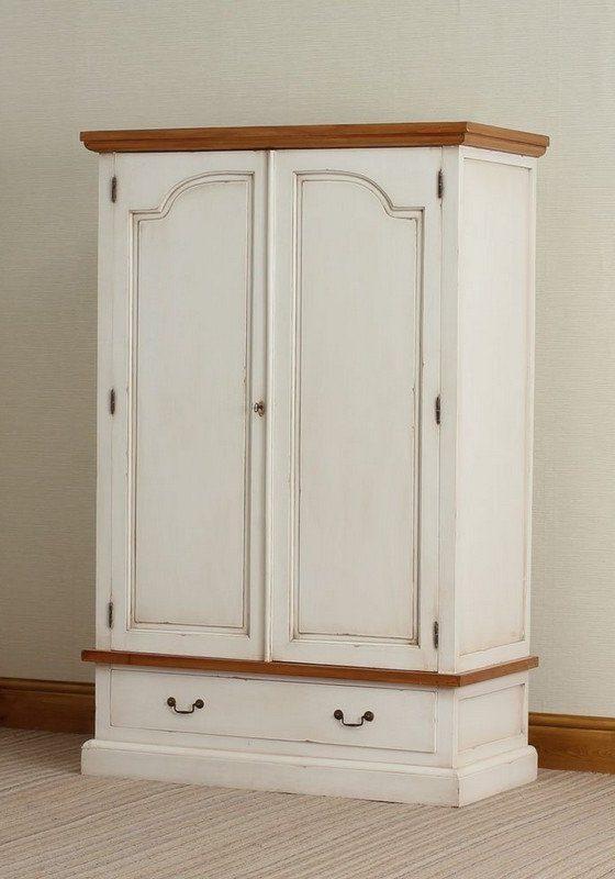 Шкаф двухдверный из МДФ для одежды с двумя ящиками