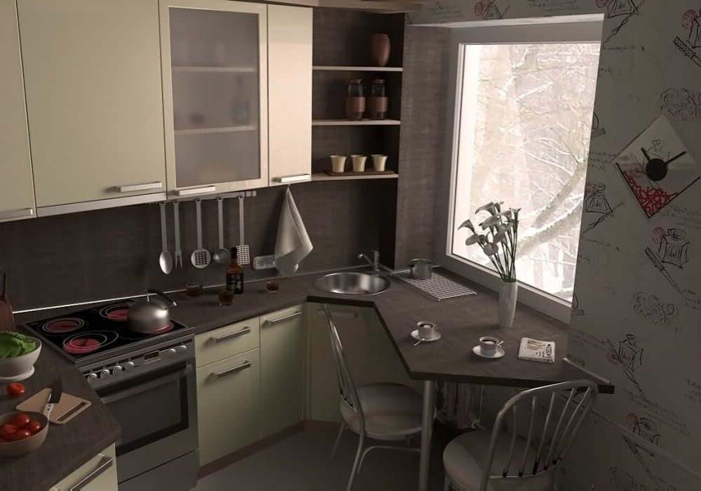 Компактная маленькая кухня