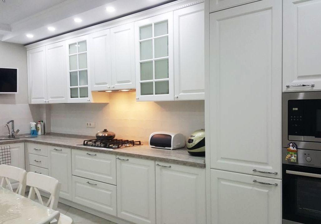 Крашенная кухня МДФ, цвет эмали белый
