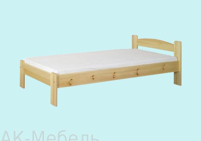 Кровать из массива сосны, деревянная мебель