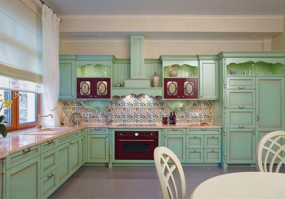 Кршенная кухня прованс с патиной