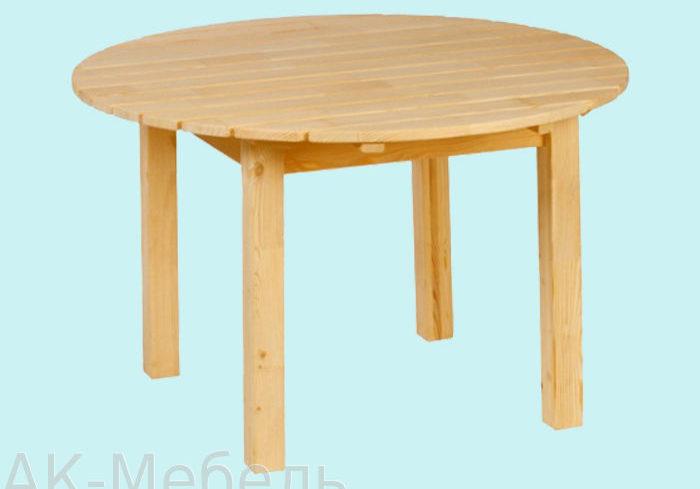 Круглый стол из сосны