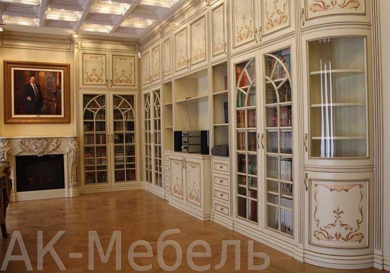 Библиотеки из крашенного МДФ с рисунком
