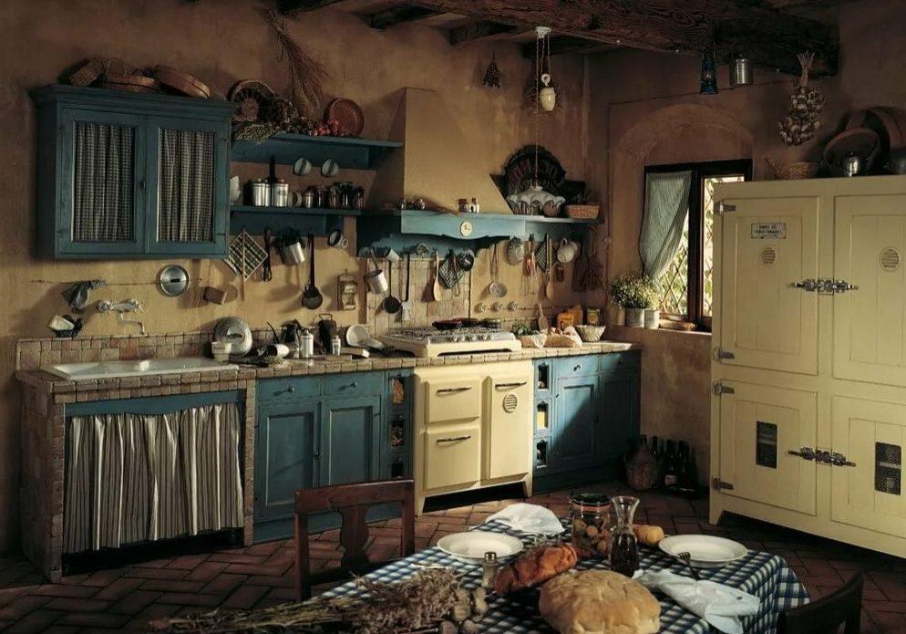 Кухня дерево, деревенский стиль кантри