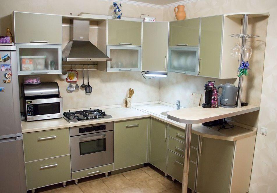 Кухня из пластика болотного цвета