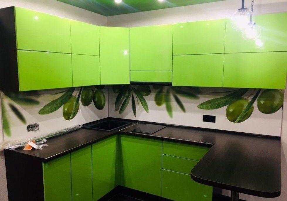Кухня лайм в квартиру