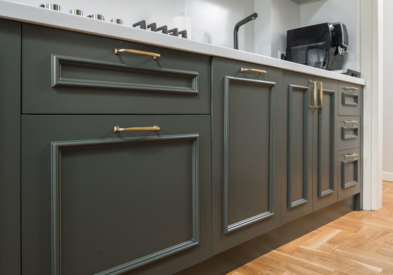 Кухня МДФ эмаль, цвет мокрый асфальт
