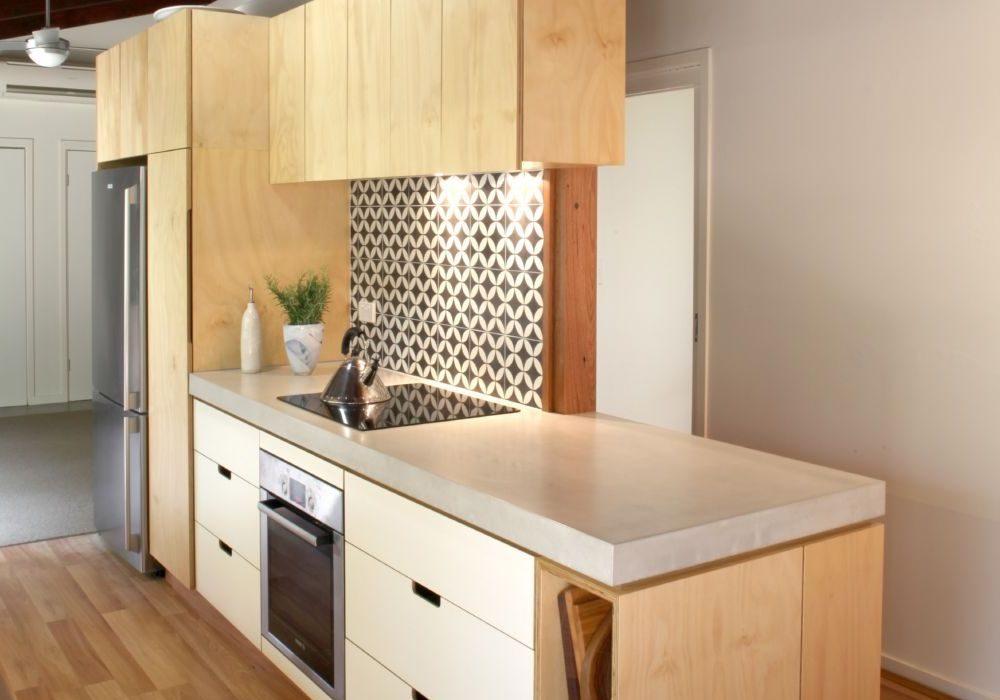 Кухня остров из мебельной фанеры
