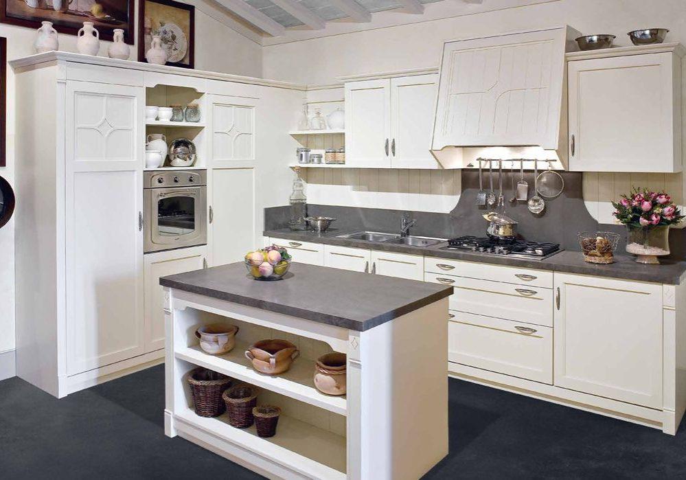 Кухня прованс белого цвета