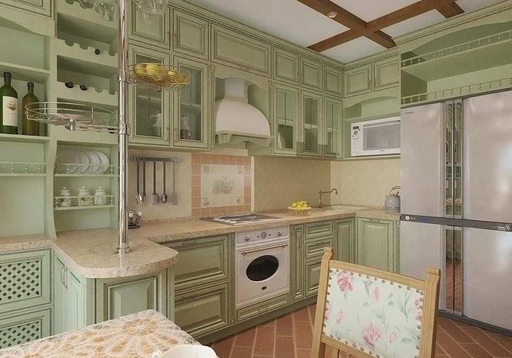 Кухня прованс для квартиры