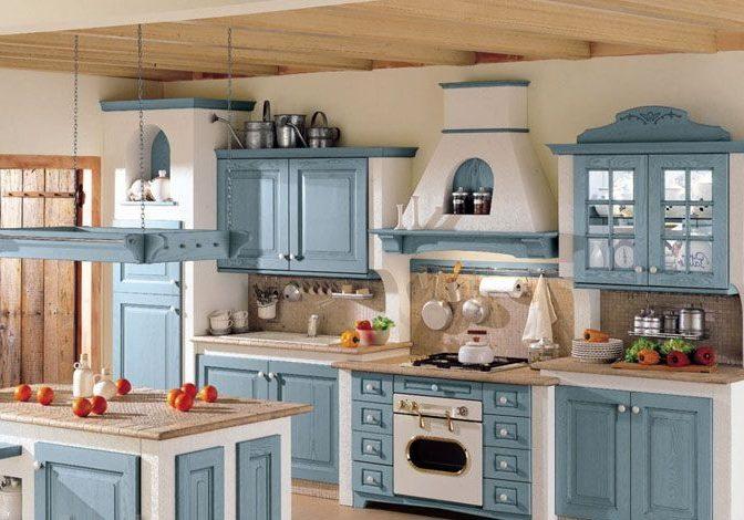Кухня прованс с фасадами массив ясеня