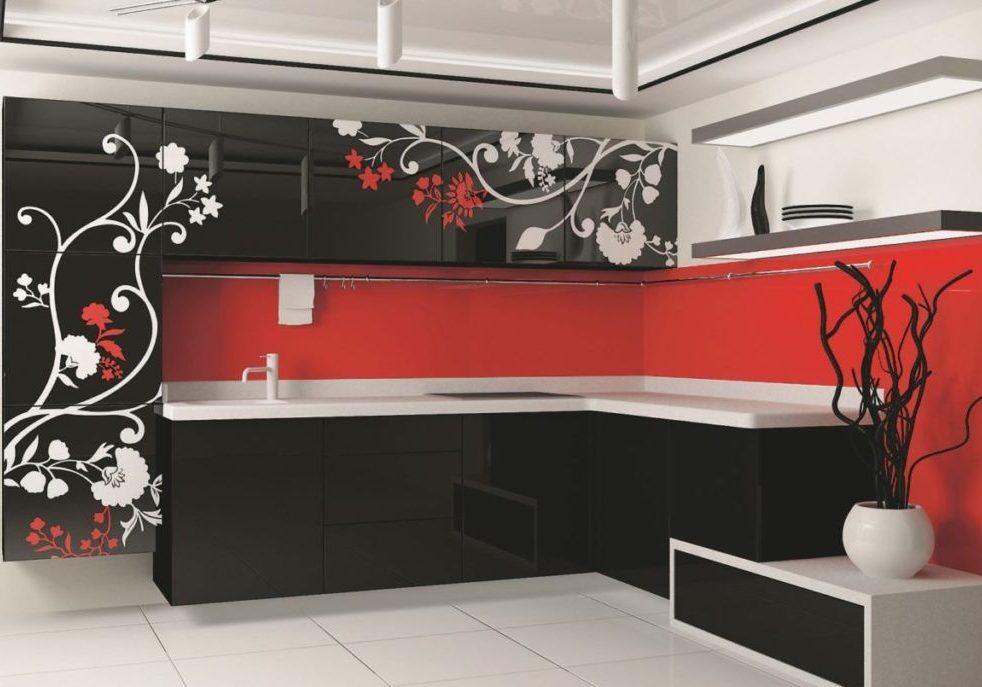 Кухня с рисунком