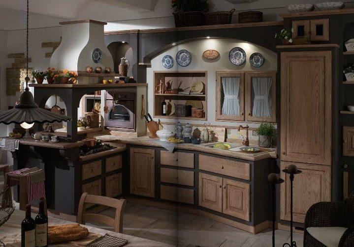 Кухня в стиле кантри для дома