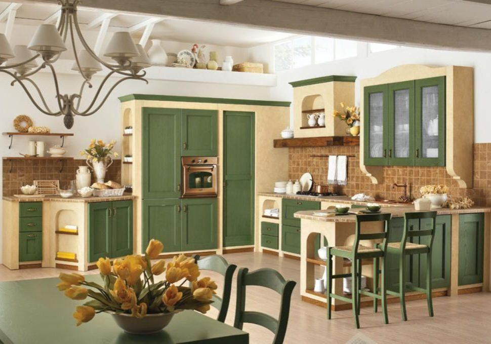 Кухня ясень с фасадами массив