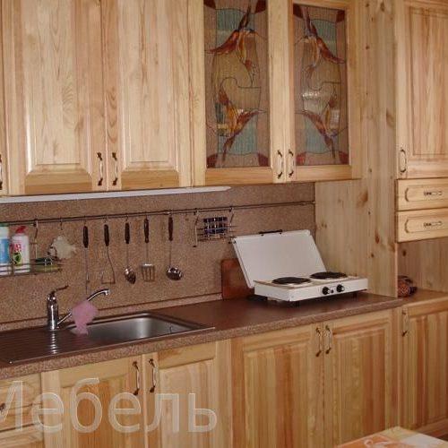 Малогабаритные кухни из мссива дерева сосна