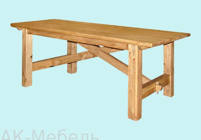 Массив сосны стол