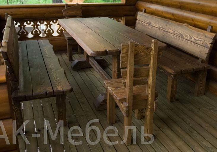 Мебель из массиа для бани