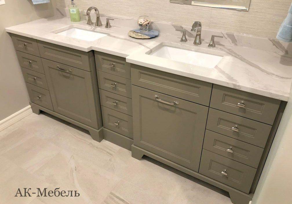 Мебель из МДФ эмаль в ванную на заказ