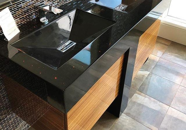 Мебель из МДФ шпон для ванной на заказ