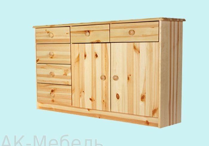 Мебель комод из массива сосны