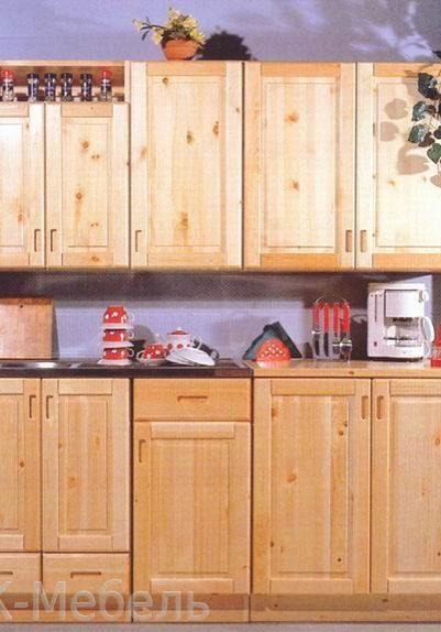 Популярная модель кухни из сосны