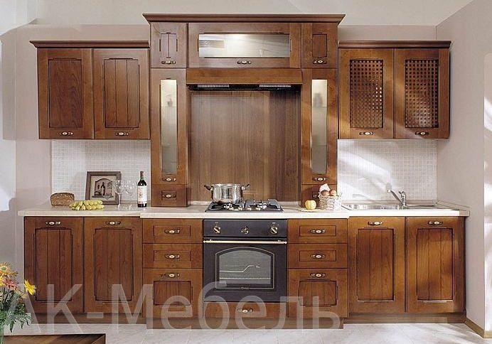 Фото кухни с деревянными фасадами