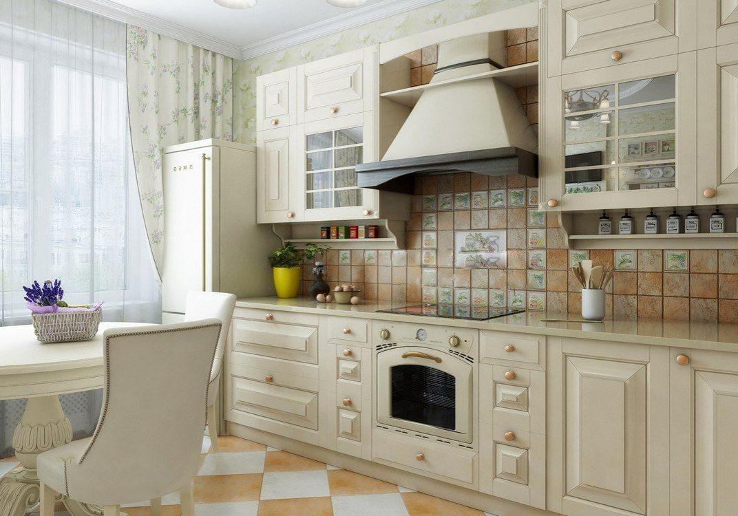Прямая белая кухня модерн, красивая