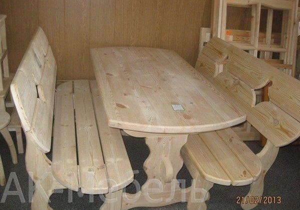 Комплект мебели из сосны в баню