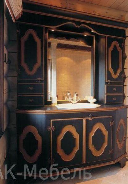 Массивная мебель в ванную