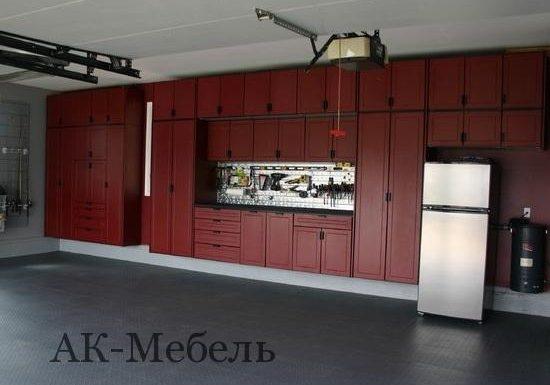 Шкаф МДФ эмаль для гаража, распашной