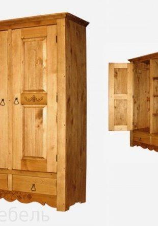Шкаф из массива сосны, для одежды