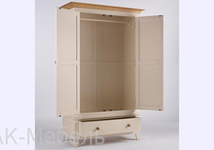 Шкаф МДФ двухдверный с ящиком, мебель серии Сапсан