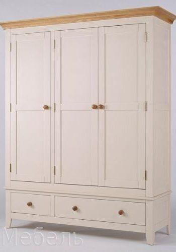Шкаф МДФ 3 двери и 2 ящика, модель мебели серия Сапсан