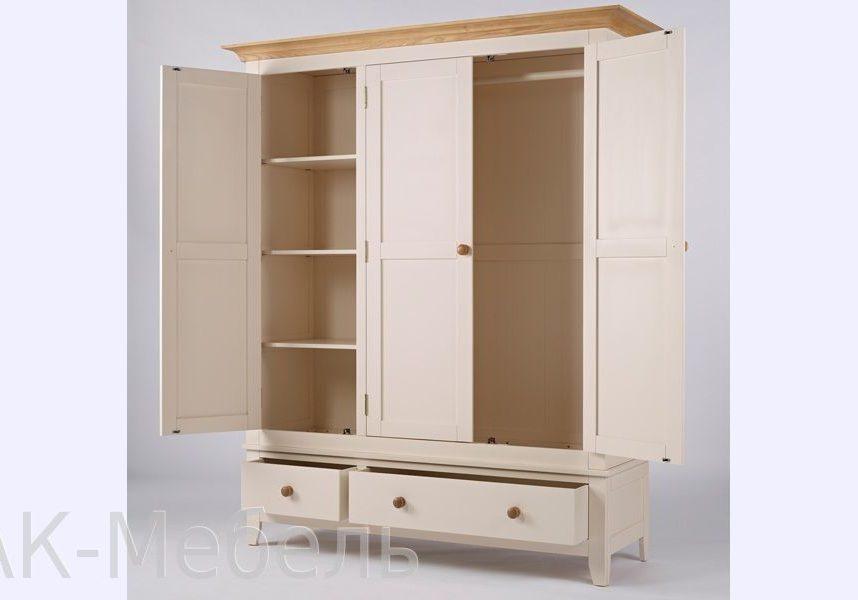 Шкаф трехдверный с двумя ящиками, мебель серии Сапсан