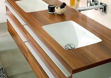 Столешница щпон лиственницы, столешница из дерева для кухни