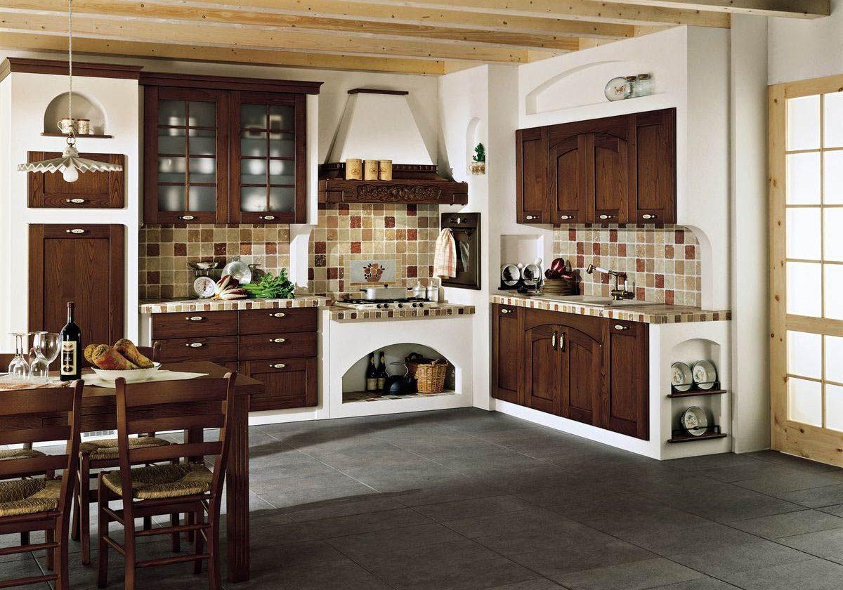 Стиль кантри для деревянной кухни