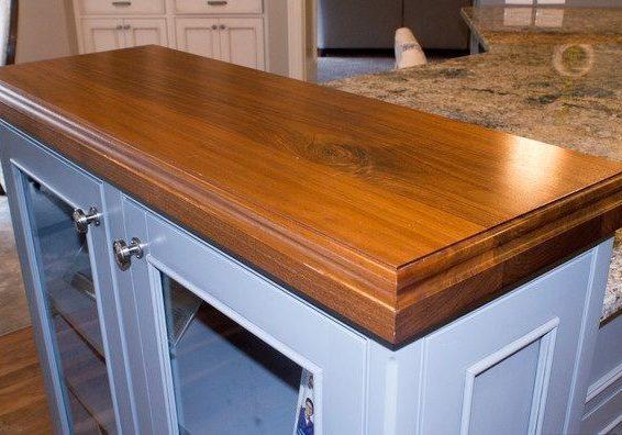 Кухонная дубовая столешница из массива дерева