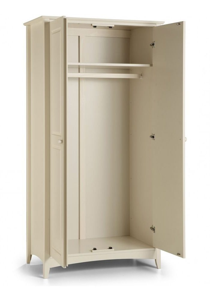 Шкаф двухдверный из МДФ, без ящиков, штанга для одежды
