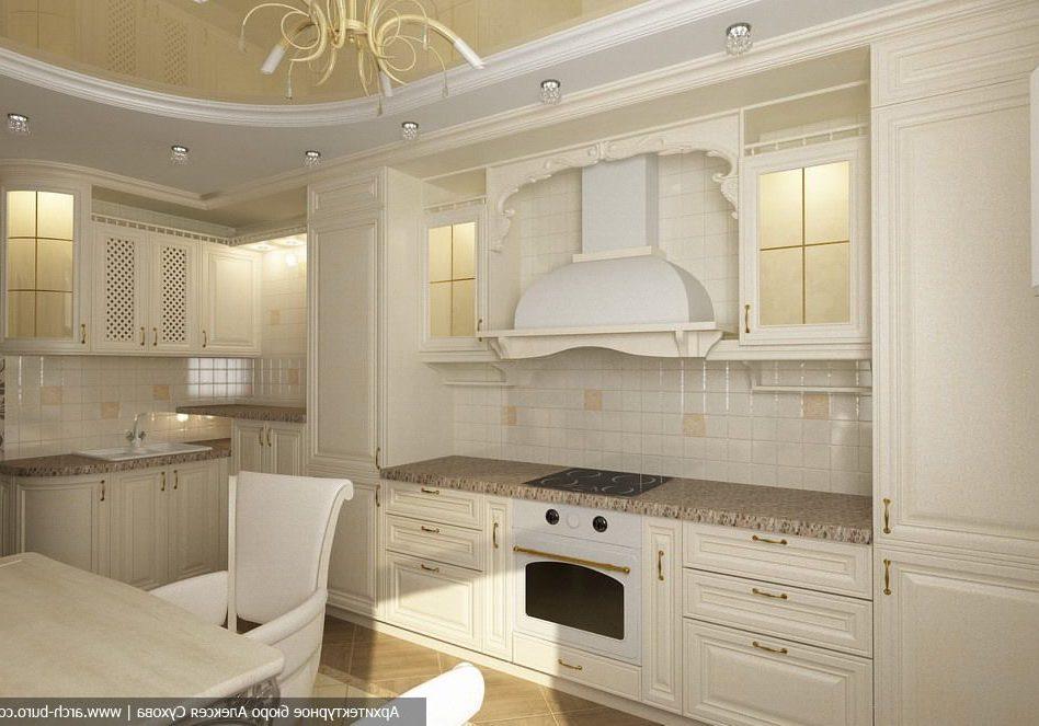 Угловая белая кухня классика