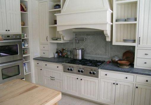 Угловая белая кухня прованс, модерн, МДФ матовый