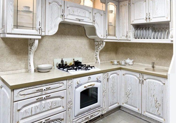 угловая кухня бароккос патиной, прованс