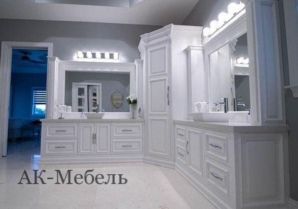 угловая мебель для ванной комнаты на заказ