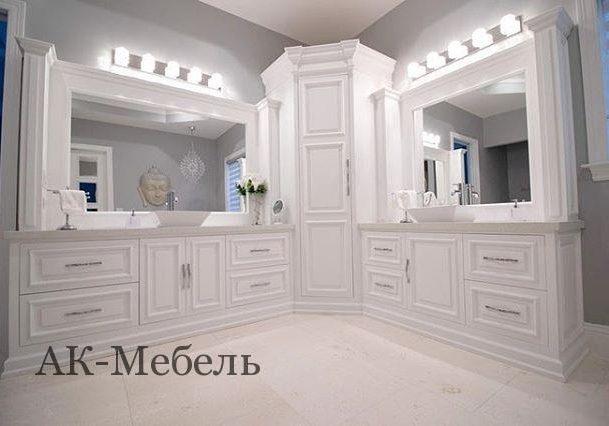 Угловая мебель для ванной комнаты под заказ